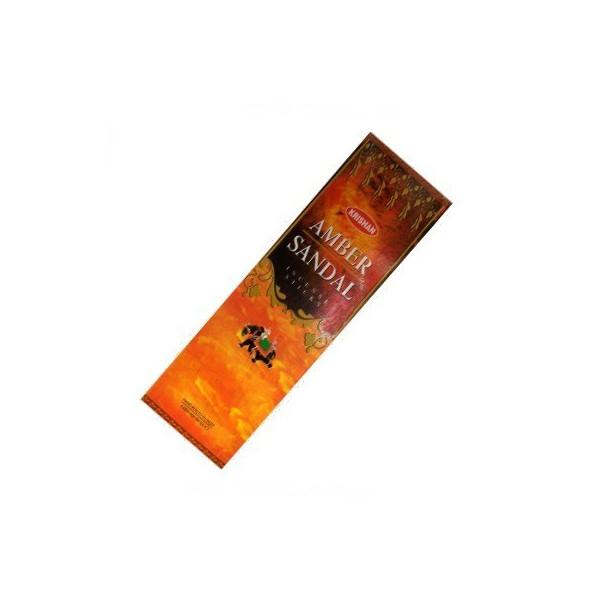 Pack de 25 boites d'encens batons krishan ambre santal