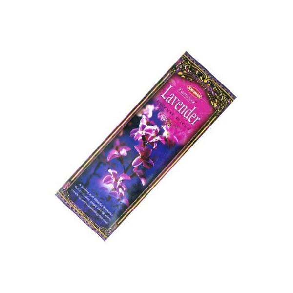 Packung mit 25 Schachteln Räucherstäbchen Krishan Lavendel