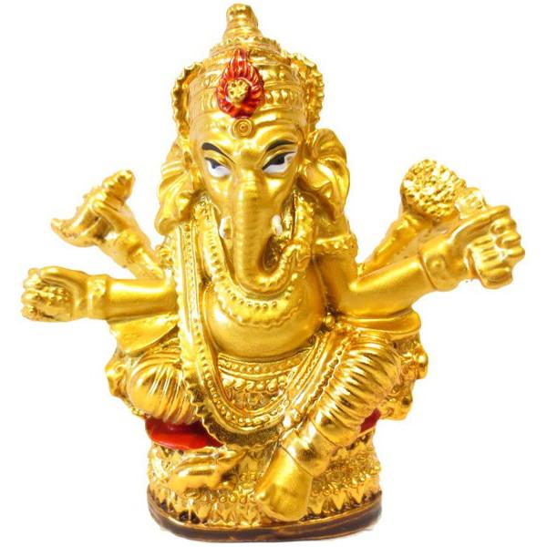 Ganesh en résine dorée