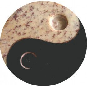 Porte encens ying yang 8 cm