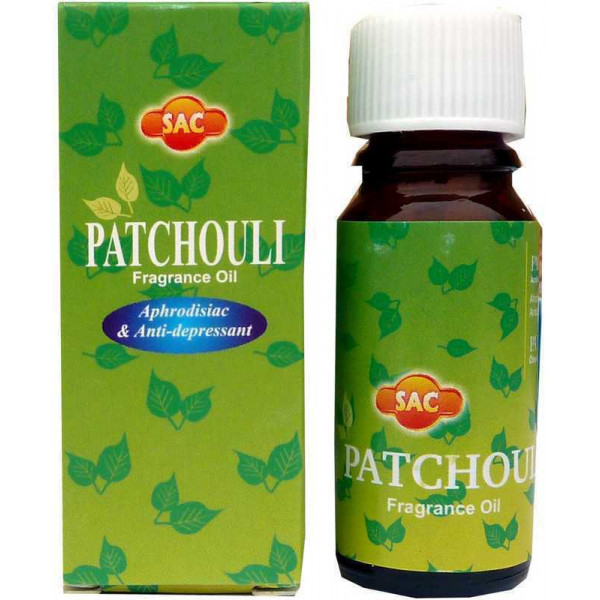 Flacon d'huile parfumée patchouli