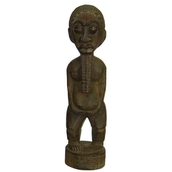 Statue totem indonésien en bois clair