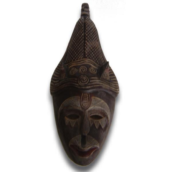 Masque en bois légendes asiatique
