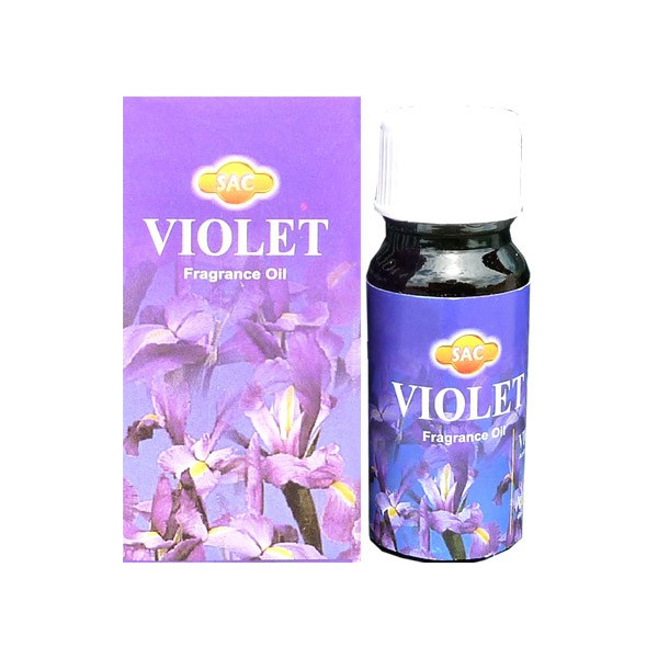 Ölflasche mit violettem Duft