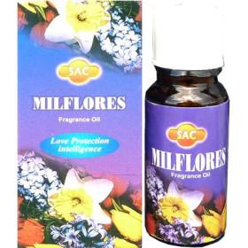 Flacon d'huile parfumée mille fleurs