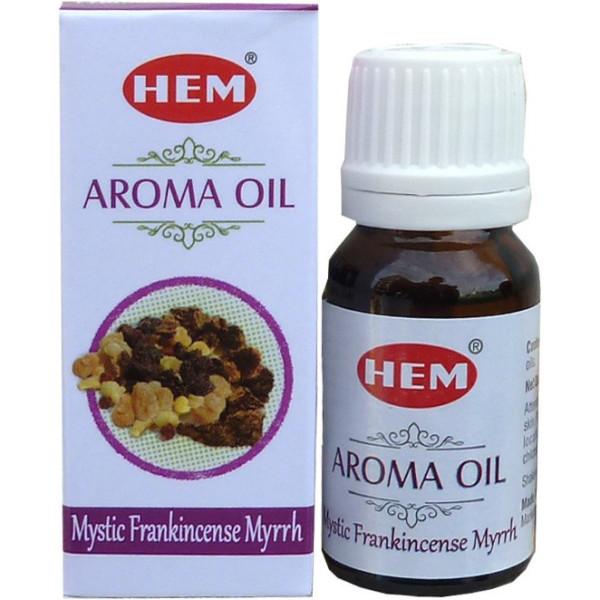 Flacon d'huile parfumée Hem franckincense myrrhe mystique