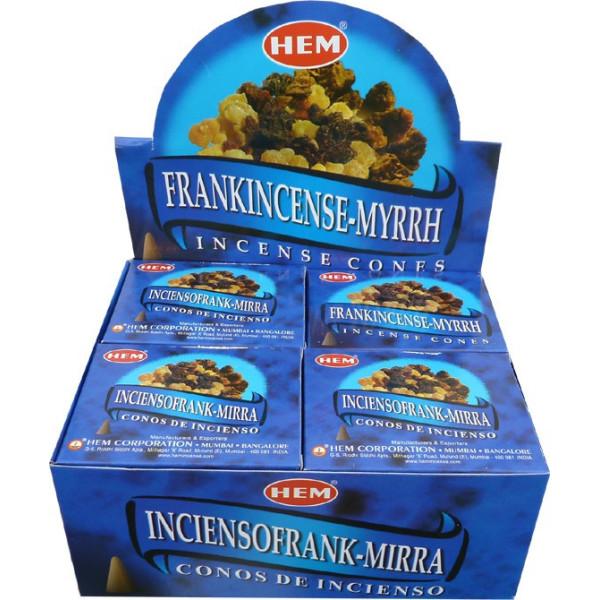 Encens cônes hem franckincense & myrrhe