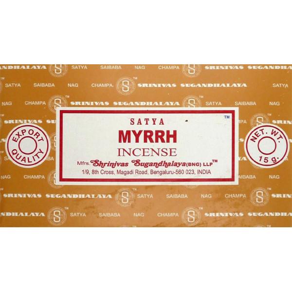 Encens bâtons satya myrrh 15 g.