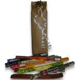 Pack prêt à offrir 17 boites d'encens + porte encens