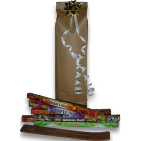 Weihnachtsgeschenkpaket 8 Schachteln Weihrauch + Weihrauchhalter