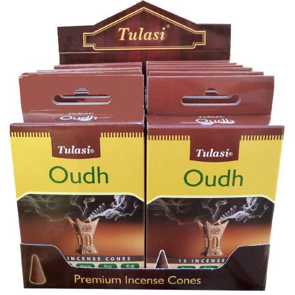 Cônes d'encens Tulasi oudh