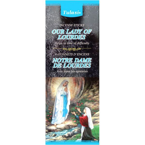 Boite d'encens Tulasi Notre Dame de Lourdes  20 gr