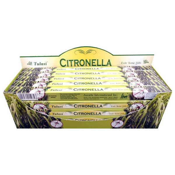 Encens batons tulasi citronnelle 10 gr