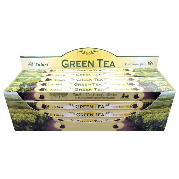 Räucherstäbchen Tulasi grüner Tee 10 gr