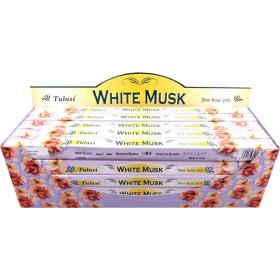 Encens bâtons tulasi musk blanc 10 gr