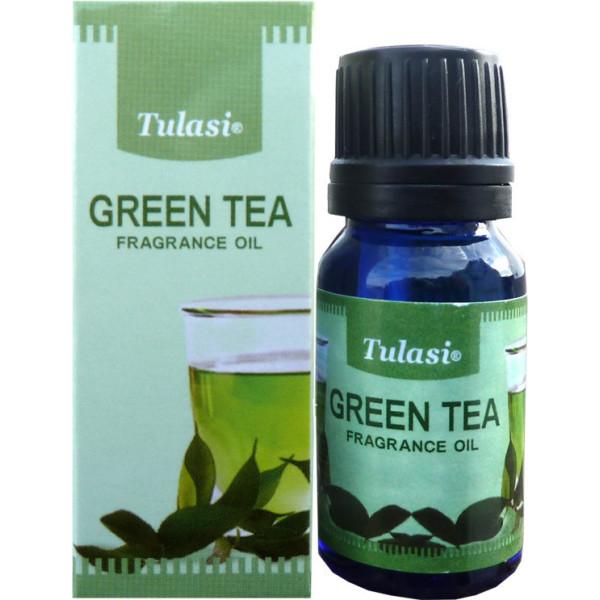 Flacon d'huile parfumée Tulasi thé vert