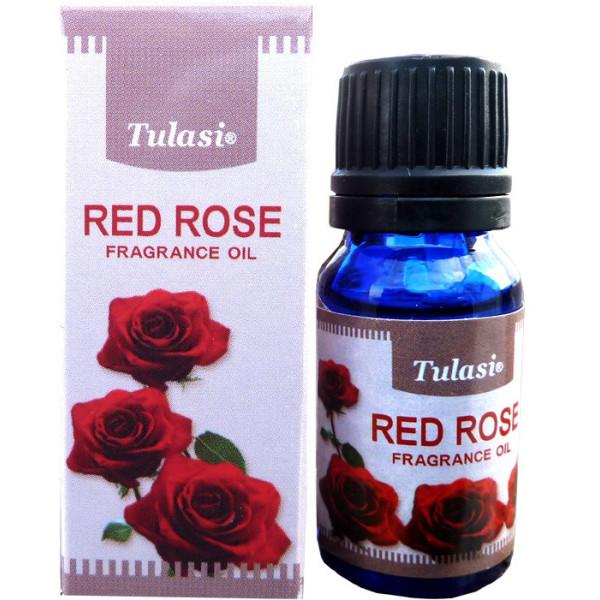 Flacon d'huile parfumée Tulasi rose rouge