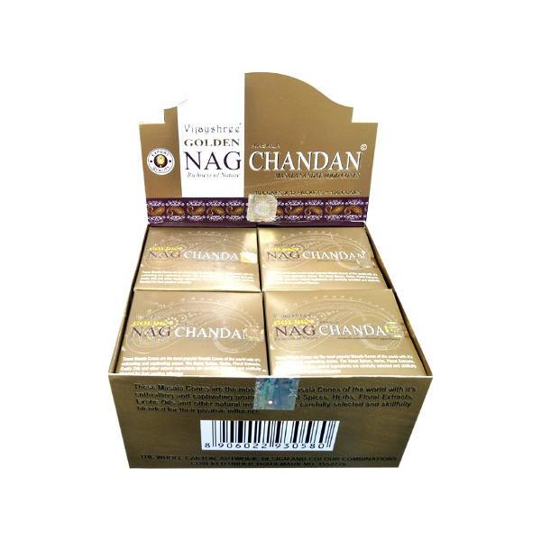 Goldener Nag Chandan Weihrauch in Zapfen.