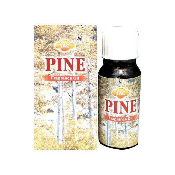 Flacon d'huile parfumée pin