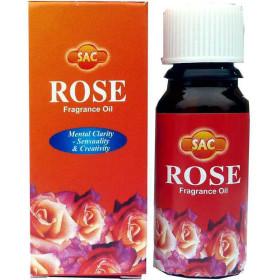 Flacon d'huile parfumée rose