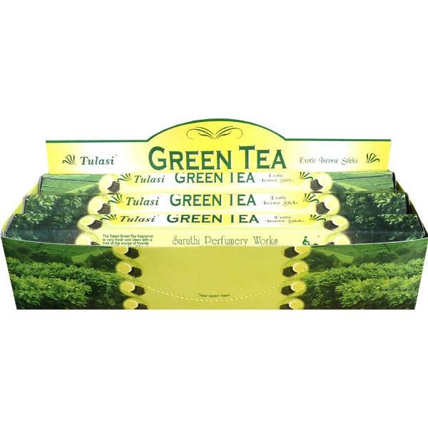 Boite d'encens Tulasi thé vert 20 gr
