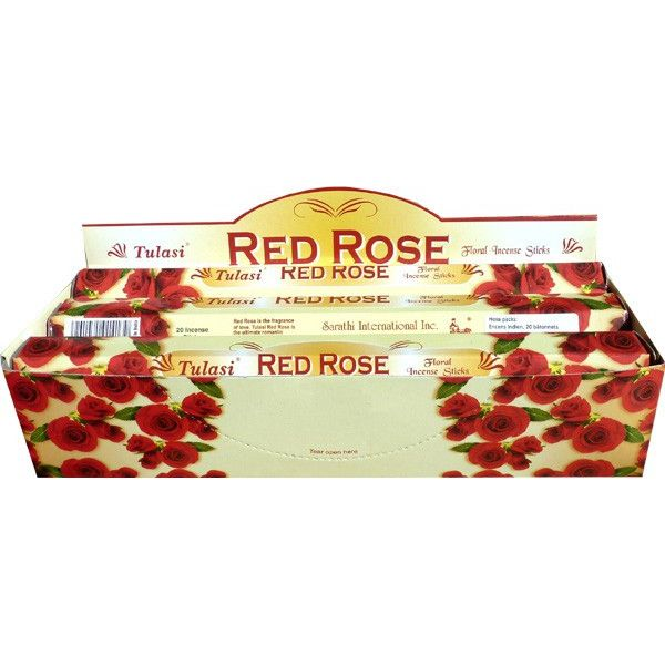 Boite d'encens Tulasi rose rouge 20 gr