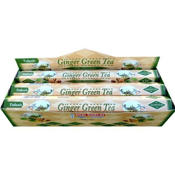 Schachtel Weihrauch Tulasi Ingwer grüner Tee 20 gr