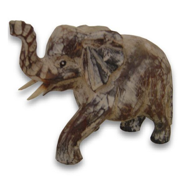 Elefant aus gebleichtem Mangoholz