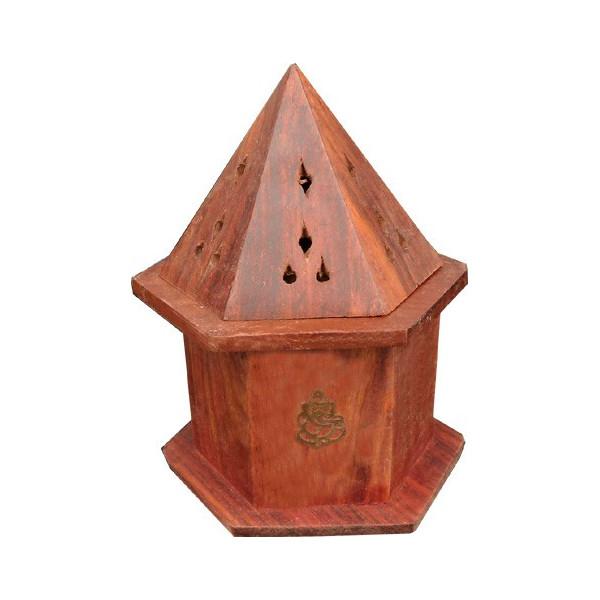Porte encens cône mini tour octogonale ganesh