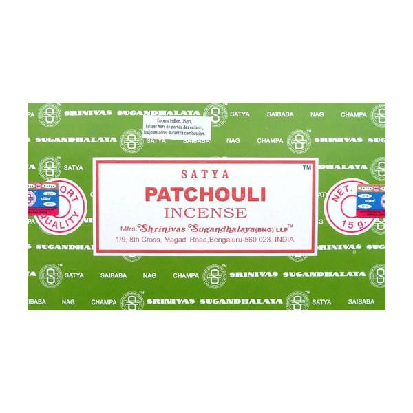 Räucherstäbchen Satya Patchouli 15g.