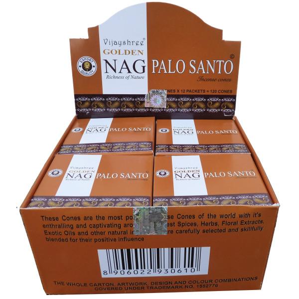 Goldener Nag Palo Santo Weihrauch in Zapfen