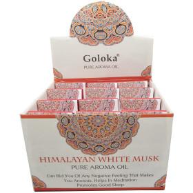 Flacon d'huile parfumée Goloka musk blanc