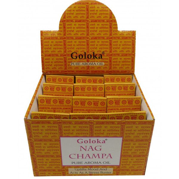Flacon d'huile parfumée Goloka nag champa