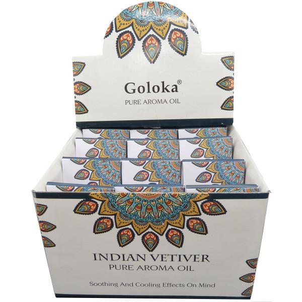 Flacon d'huile parfumée Goloka vétiver