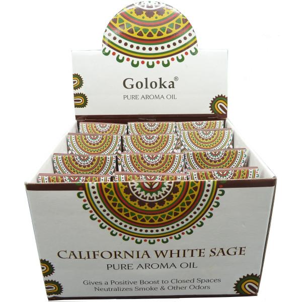 Flacon d'huile parfumée Goloka sauge blanche