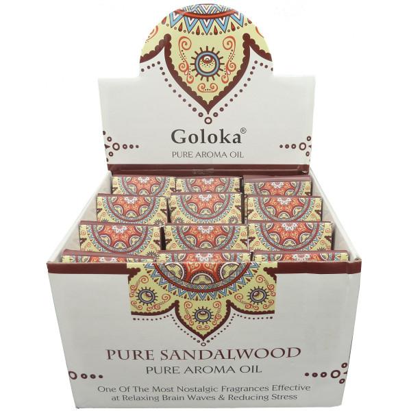 Flacon d'huile parfumée Goloka santal