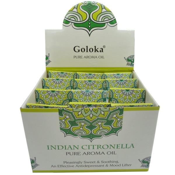 Flasche duftendes Öl Goloka Zitronengras