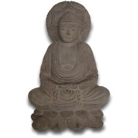 Statue bouddha en pierre 25 cm