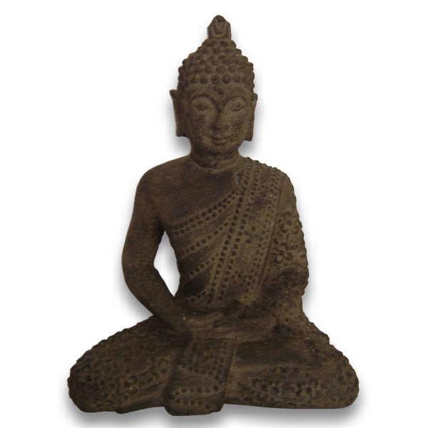 Statue bouddha en pierre 21 cm