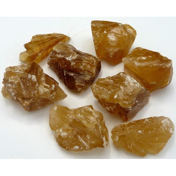 Calcite miel brut 4 à 5 cm
