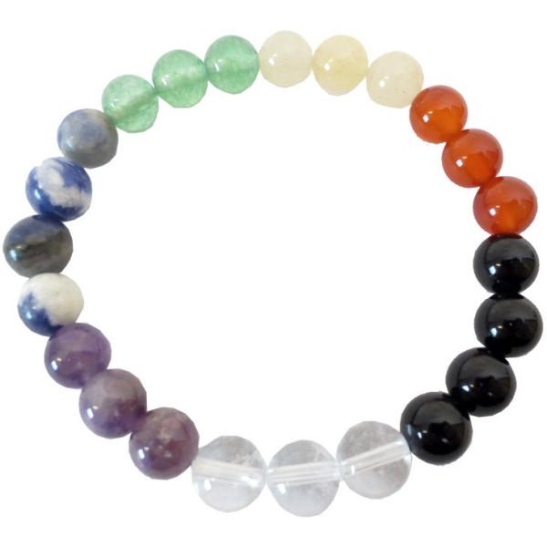 Bracelet 7 chakras perles pierres naturelles