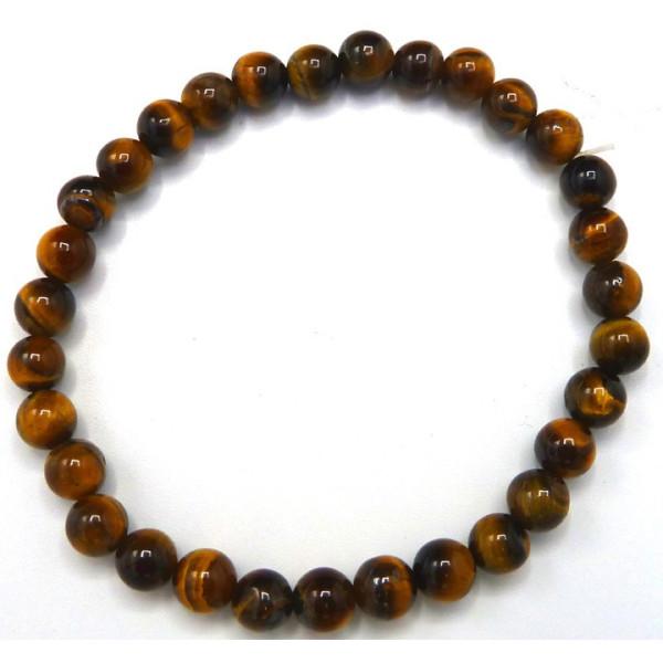 Bracelet oeil de tigre perles de 6 mm