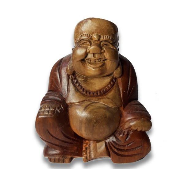 Bouddha en bois de suar 11 cm