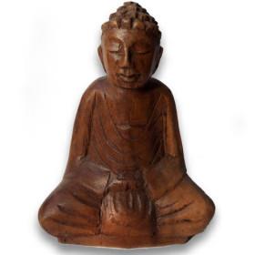 Bouddha en bois de suar 10 cm