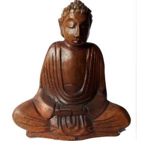 Bouddha en bois de suar 16,5 cm
