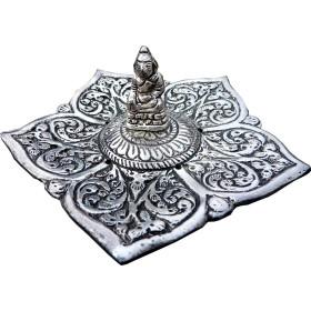 Porte encens batons et cônes bouddha en métal