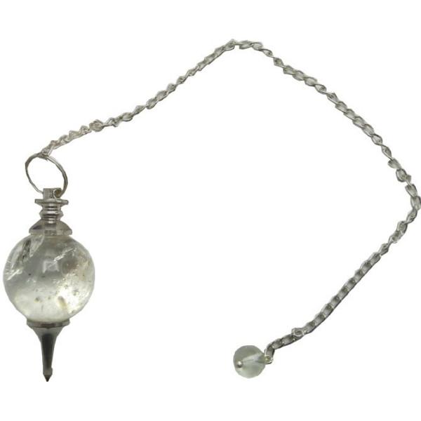 Pendule sphère de cristal de roche