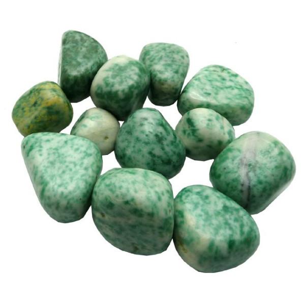 Jade verte pierre roulée