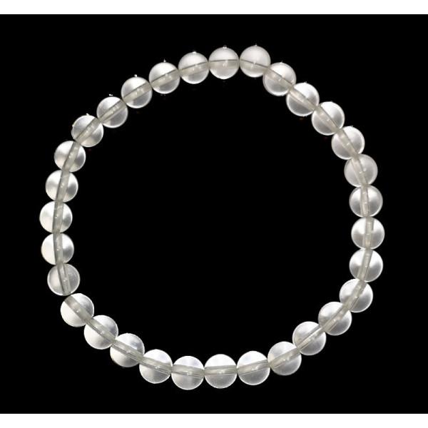 bracelet cristal de roche perles de 6 mm