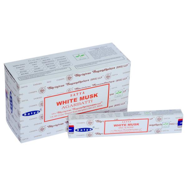 Encens bâtons Satya musk blanc 15 g